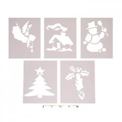 Papírové šablony na umělý sníh