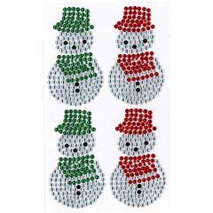 Vánoční samolepky - sněhulák