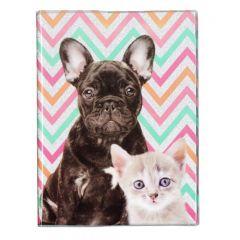 Památník s brokátem Pes a kočka
