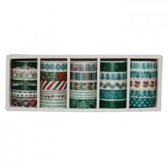 Samolepící páska s vánočním vzorem 25ks