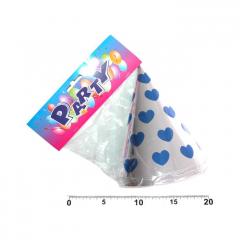 Klobouček papírový 6ks srdce