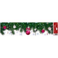Vánoční fólie na okno WB-10 bordura
