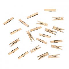 Dřevěné kolíčky přírodní - střední