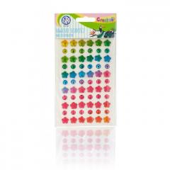 Samolepící kamínky - Rainbow sweets 66 ks
