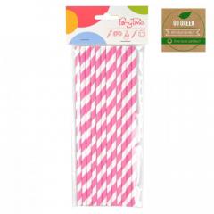 Eko brčko - stripes Go Green růžové