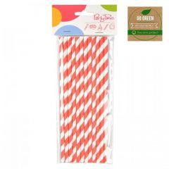 Eko brčko - stripes Go Green červené