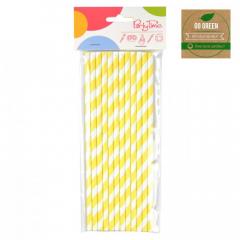 Eko brčko - stripes Go Green žluté