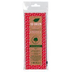 Eko brčko - dots Go Green červené