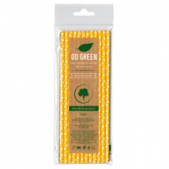 Eko brčko - dots Go Green žluté