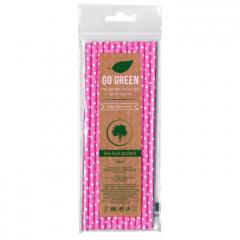 Eko brčko - dots Go Green růžové