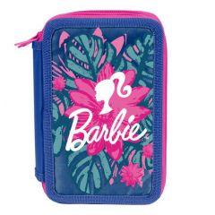 Školní penál 3 zipy Barbie - prázdný