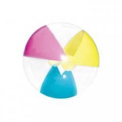Nafukovací plážový míč 61 cm - průhledný
