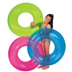 Plážový nafukovací kruh - průhledný 76 cm
