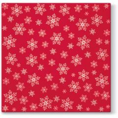 Vánoční papírový ubrousek Stars Everywhere - červený