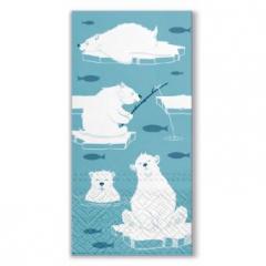 Vánoční papírový kapesníček Polar Bears
