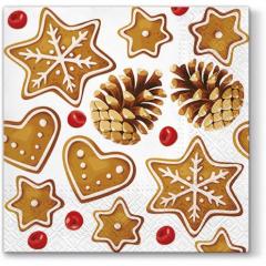 Vánoční papírový ubrousek Gingerbreads