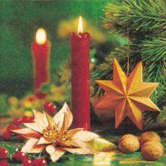 Vánoční papírový ubrousek 60667