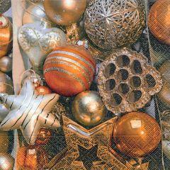 Vánoční papírový ubrousek Shining balls
