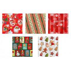 Vánoční papír FLORIO 10m SET2
