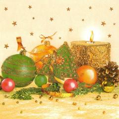Vánoční ubrousek Xmas Gold & Green Decoration