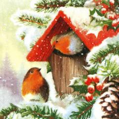 Vánoční ubrousek Coming home