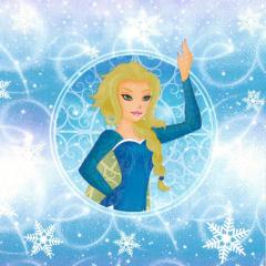 Vánoční ubrousek Frozen Girl