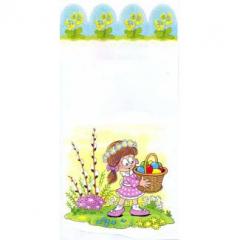 Velikonoční sáček s vloženým dnem - Holka s vejci