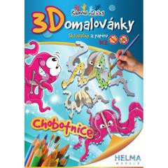 3D omalovánky Chobotnice