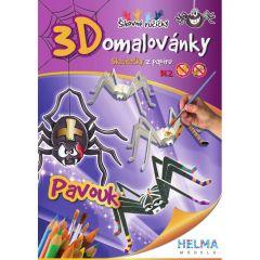 3D omalovánky Pavouk