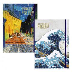 Skicovací notes A5 80l Van Gogh & Hokusai