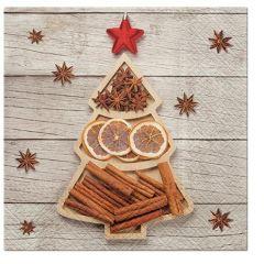Aromatický vánoční ubrousek Spices Tree