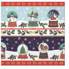 Vánoční papírový ubrousek Christmas Glass Balls