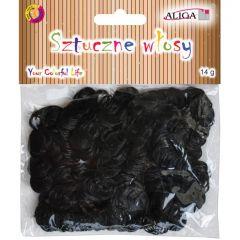 Umělé vlasy pro dekoraci - černé