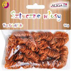 Umělé vlasy pro dekoraci - hnědé