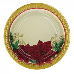Vánoční papírový talíř 150504