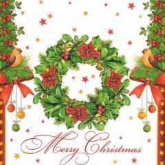 Vánoční ubrousek Merry Christmas Wreath