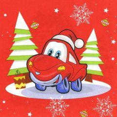 Vánoční papírový ubrousek Jingle Bell Car