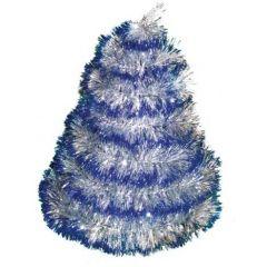 Vánoční řetěz stříbrno-modrý