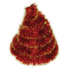 Vánoční řetěz červeno-zlatý