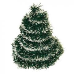 Vánoční řetěz zeleno-bílý