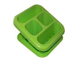 Box na jídlo  Smart to go, purpurová, s příborem, 1l, CURVER