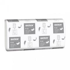 Papírové ručníky Plus, sněhově bílá, Z skládání, 3-vrstvé, 90 listů, KATRIN