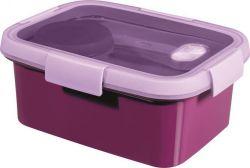 Box na jídlo  Smart to go, purpurová, s příborem, 1,2l, CURVER