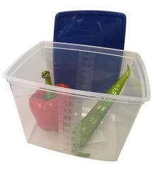 Dóza na potraviny s víkem, plast, set 2 ks, 4,5l ,balení 2 ks