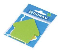 Samolepicí bloček ve tvaru šipky, 50 lístků, DONAU, zelený ,balení 50 ks