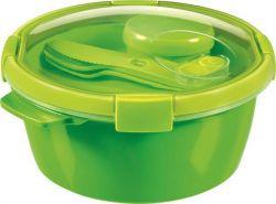 Box na jídlo  Smart to go, zelená, s příborem, 1,6l, CURVER