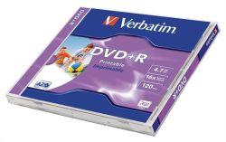 DVD+R 4,7GB, 16x, Printable, Verbatim, jewel box