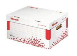Rychle-složitelný archivační kontejner s víkem Speedbox, vel. S, bílá, A4 ESSELTE