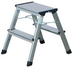 Schůdky, s kolečky, 2x2 schody, hliníkové, KRAUSE Rolly