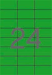 Etiketa, 70 x 37mm, zelená, 480 ks/bal., APLI ,balení 20 ks